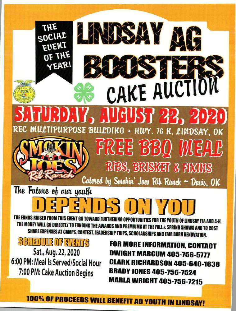 Lindsay AG Booster Cake Auction