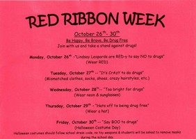 Red Ribbon Week Oct 26th-30th